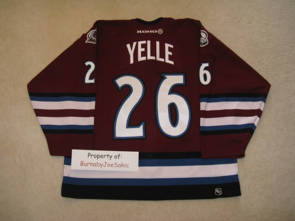 Stephane Yelle 01-02 Alternate back