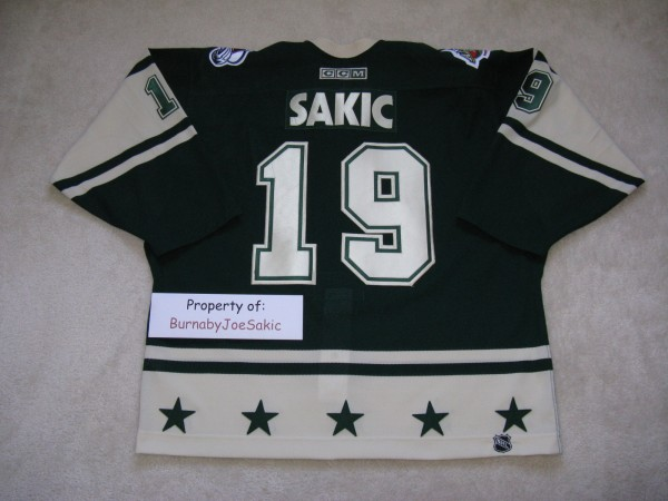 Sakic 2004 All Star back