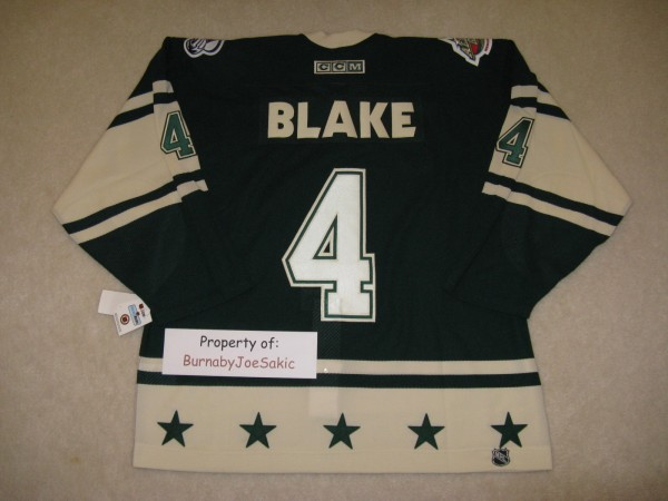 Rob Blake 2004 All Star back