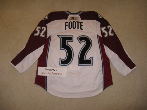 Adam Foote 2010-2011 White Set 3 back