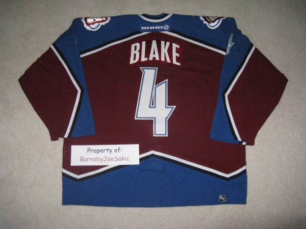 Rob Blake 2003 Skills Worn back