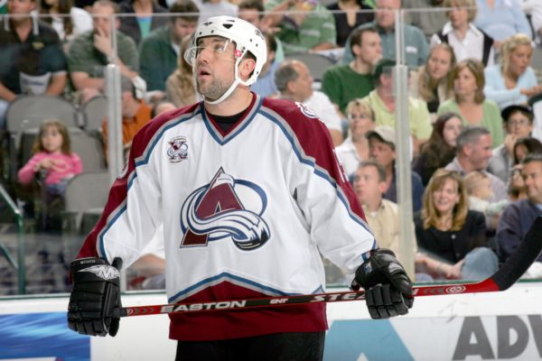 DALLAS - APRIL 30: Andrew Brunette #15 of the Colorado Avalanche looks on against the Dallas Stars in game five of the Western Conference Quarterfinals during the 2006 NHL Playoffs at American Airlines Center on April 30, 2006 in Dallas, Texas. The Avalanche defeated the Stars 3-2 in overtime to win the series 4-1. (Photo by Ronald Martinez/Getty Images)