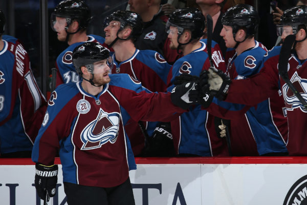 DENVER, CO - MARCH 03: Mikkel Boedker #89 of the Colorado Avalanche celebrates his goal against the Florida Panthers to take a 2-1 lead in the first period at Pepsi Center on March 3, 2016 in Denver, Colorado. (Photo by Doug Pensinger/Getty Images)